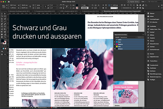 Webinare zu Reinzeichnung, Druckproduktion, Print Produktion Adobe InDesign