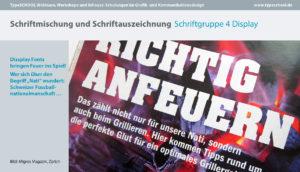Typografische Schriftauswahl für Werbung. Magazin. Flyer
