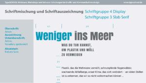 Schriften Fonts für Magazin und Buchdesign Jugend