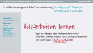 Verwendung von unterschiedlichen Schriften in der Typografie und im Design.