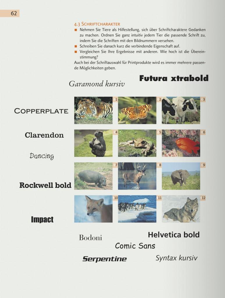 Seite aus Workshop Typografie & Printdesign von Martina Nohl